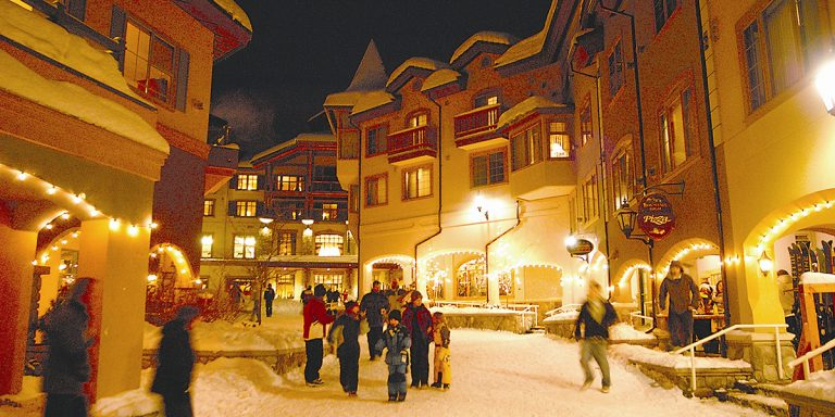 Village showing why people choose to Invest in Sun Peaks